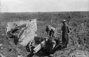 A German Whiz-bang captured by Canadians at Thelus, Vimy Ridge, April, 1917. Canada. Dept. of National Defence, Library and Archvies Canada. Could this be one of the pieces of artillery captures by a battalion of the 4th C.I.B.