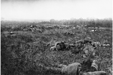German dead at the retreat at the Battle of Aisne