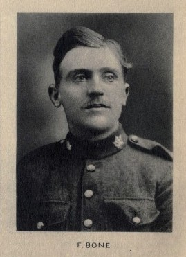 Photo of Frederick Bone – From Memorial from the Great War 1914-1918: a record of service published by the Bank of Montreal 1921. Source: CVWM