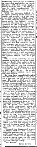 Fred Young Letter from the Font Part 2 March 1916