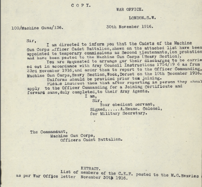 letter-re-joing-imperial-machine-gun-corps-officers-cadet-battalion