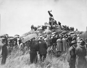 Opening of the Newfoundland Memorial Park, Beaumont Hamel, France, 7 June 1925 / Central Press Photos, The Great War photograph collection.