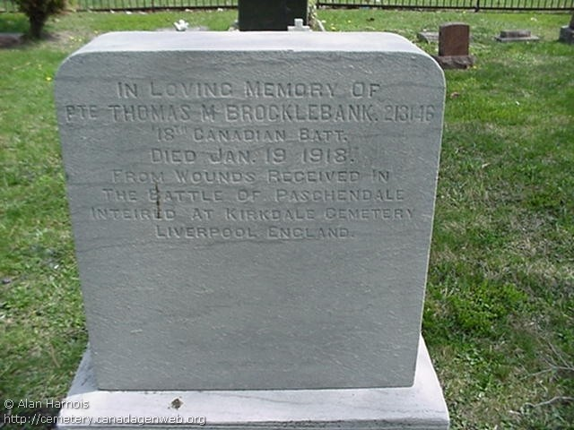 Headstone at Windsor Grove Cemetery, Windsor, Ontario.