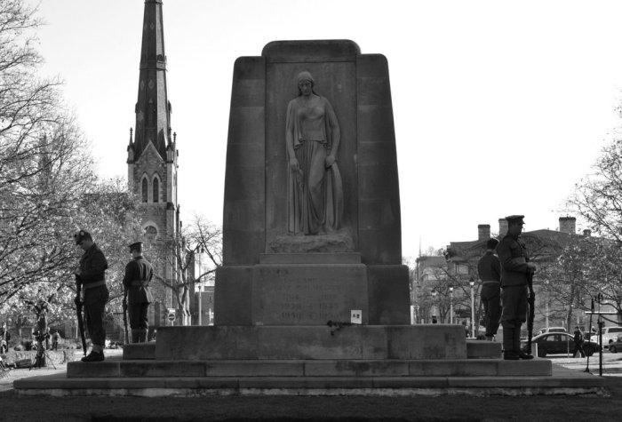 Galt Cenotaph November 11, 2104. Photograph by Eric Edwards.