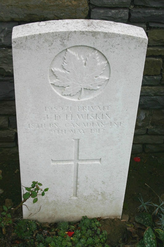 Grave Marker – A photograph of the headstone at the Orchard Dump Cemetery. May he rest in peace.(J.Stephens). Source: CVWM