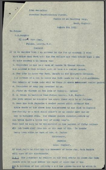 Page 1 of Burgess Will.
