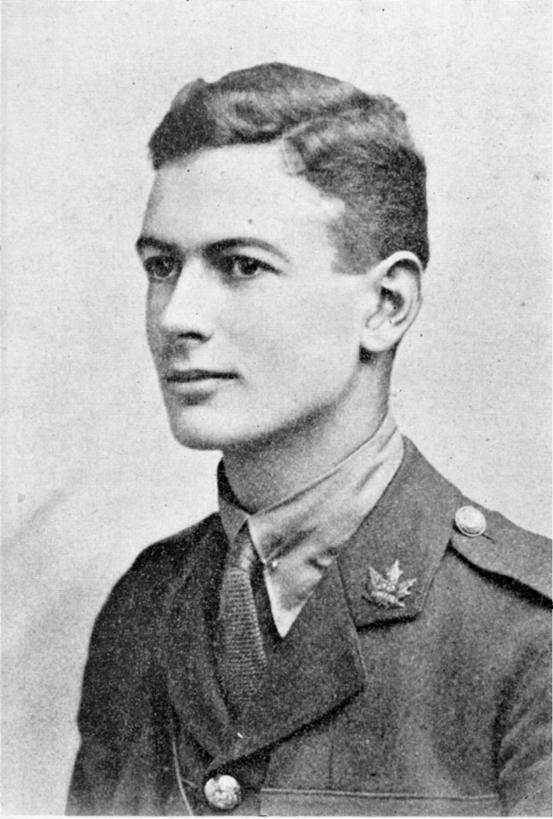 "Photo of William Richard Wright – Born in Ottawa, William Wright was one of Appleby's original students, having followed founding Headmaster John Guest from Upper Canada College. While at Appleby he played on the First Rugby (Football), Hockey and Cricket teams. Upon graduating from Appleby in 1916, he at once enlisted in the Fifth University Company, and on going overseas obtained a commission in the 35th Battalion. Having been transferred to the 18th Battalion only days earlier, he was killed by a high-explosive shell as he was looking for some men who were lost while on a working party in advance of the front-line trenches. His immediate superior, Capt. I. O. H. Rayward, said in a letter to Wright's mother, "" your son died cleanly and bravely, doing that which he set his hand to in a manner which became his rank and station."" From the Appleby College Archives. Source: CVWM"