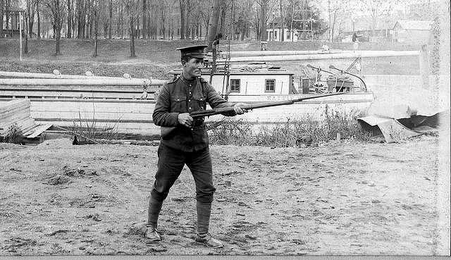 Photo of Jacob Lane – Private Jacob Lane along the Thames River near Chatham, Ontario. Source: CVWM