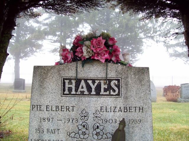 928989 John Elbert Everitt Hayes Elora Municipal Cemetery 1987 - 1973