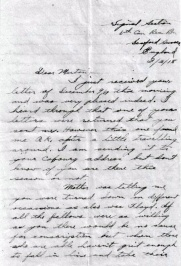 bruce-poole-letter-page-1-february-1918