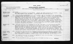 18th Battalion War Diary describing action on August 26, 1918 continued.