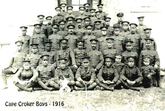 Cape Croker Boys Second row, left to right: Francis Ritchie, Alex Johnston, Levi Chegahno, Elias Mitchell, Little Morgan Johnston, Mike Lavalley, Alex Taylor, Burlyn Lavalley, William Akiwenzie. Source: https://www.nawash.ca/seniors/veterans/