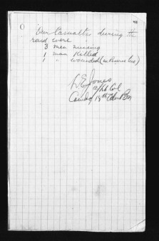 Page 3 of report from 18th Battalion to 4th Canadian Brigade regarding German Trench Raid on night of May 27/28, 1917.