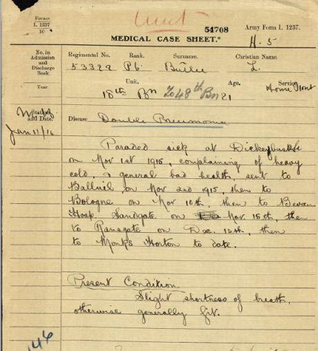sgt-butler-medical-case-history-sheet