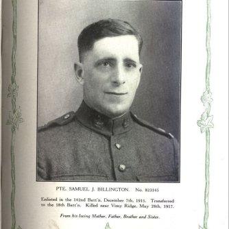 Private Billington