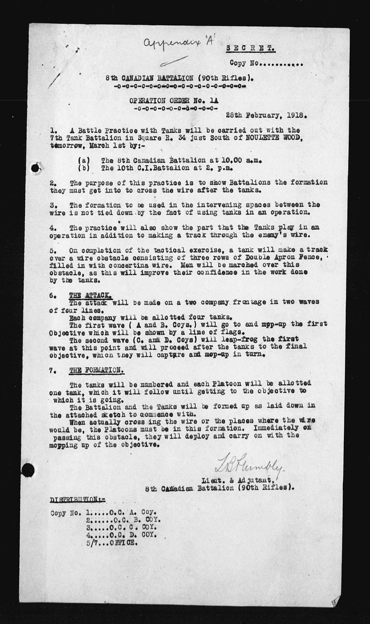 Tank Tactics and Barbed Wire: February 1918 | War Diary of the 18th ...