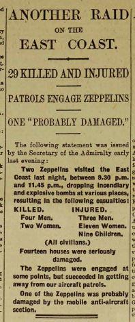 Zepplin Raid Daily Telegraph August 14 1915 Page 7