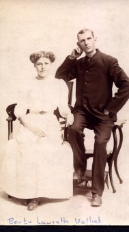 Photo of Henry Herbert Vollick and his sister Berta Laureta Vollick. Via CVWM.