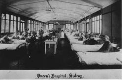 Interior of ward, at Queen's Hospital, Sidcup.