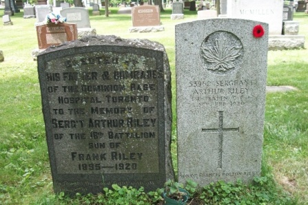 Family gravemarker – He is also mentioned on the family marker. Photo courtesy of Marg Liessens. Via CVWM
