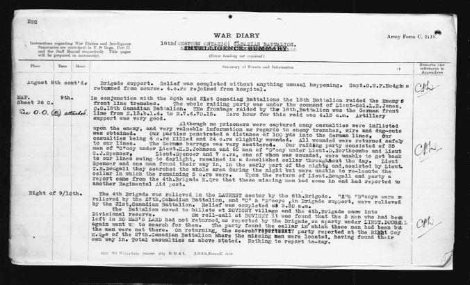 War Diary August 1917 (6)