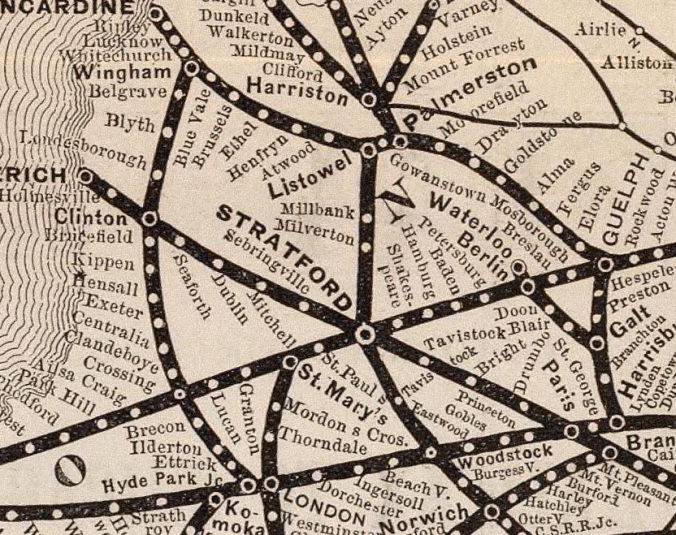 Detail of the Grand Trunk Railway Network 1885