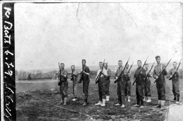 Wallace Bayonet Practice