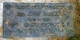 Sgt. John Weir Baxter originally attested with the 81st Battalion and was transferred to the 18th Battalion June 29, 1916 and the majority of his service was with this battalion.