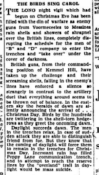 ot a Bullet for His Gift Rememberence of Christmas Day 1915 Border Cities Star Part 2