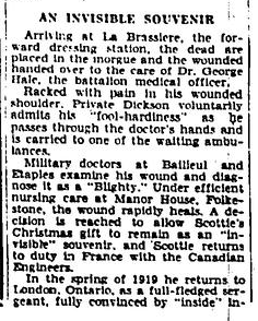 ot a Bullet for His Gift Rememberence of Christmas Day 1915 Border Cities Star Part 5