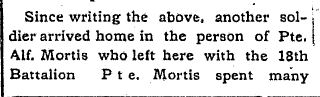 Source: The Wingham Advance. May 22, 1919. Page 5.