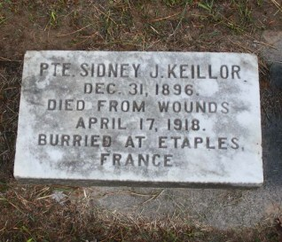 Grave plaque. Kellior Family Plot. Tyrconnell Cemetery Tyrconnell, Elgin County, Ontario, Canada. Via Richard Watsone (Find-A-Grave).