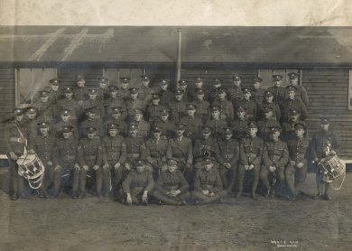 No. 13 Platoon, D Company, 160th Battalion C.E.F. Source: Bruce Remembers