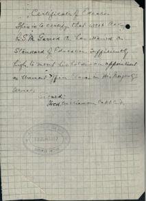 Certificate of Education for Arthur Garrod 53806
