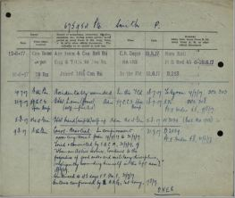 Smith Percy FGCM Entry in Service File