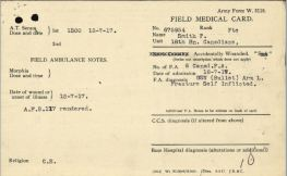 Smith Percy Field Medical Card Front