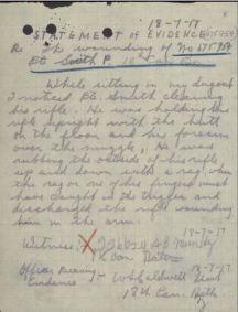 Smith Percy Statement of Evidence by A B Mundy reg no 226624