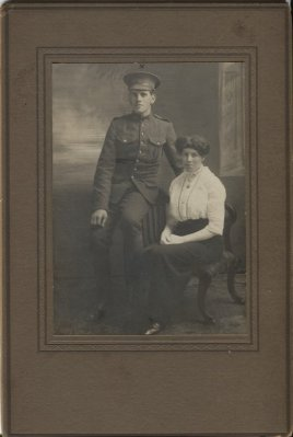 Private Benjamin Woolley pictured with his wife, Lilly.