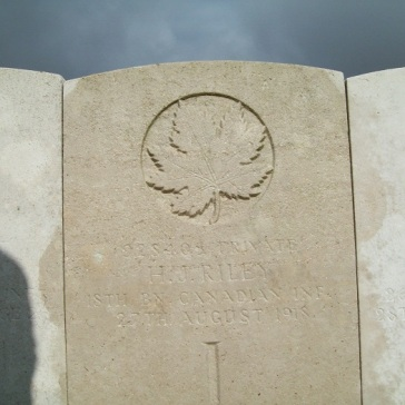 928405 Harold Joseph Riley, Wancourt British Cemetery, Grave Ref: III. B. 15