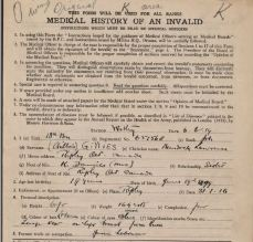 Medical History of an Invalid Murdock Gillies 651658 showing birth year as 1899