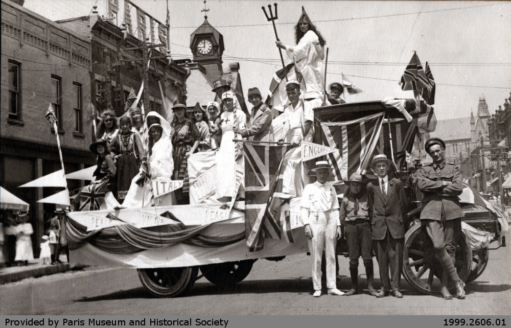 Sons of England Float Circa 1914 to 1919 Paris Ontario