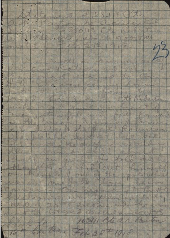 Witness Statemen of Private Parton reg no 163411