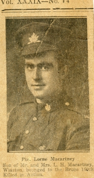 A2015.121.020 - AGC-021_Pte Macartney_Wiarton_Killed in Action_Canadian Echo_Oct 09 - 1918