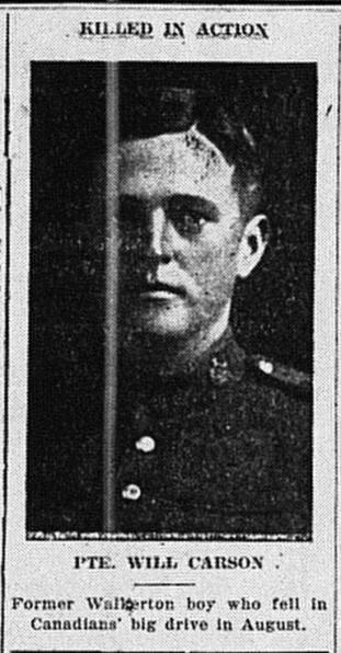 Carson, Will - Walkerton - 1918 - 10 - 24 - p1