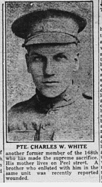 Private Charles Ward White 675821 18th Battalion