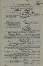 Attestation Paper page 1 1914