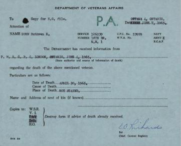 Veterans Canada Death Notice 126039