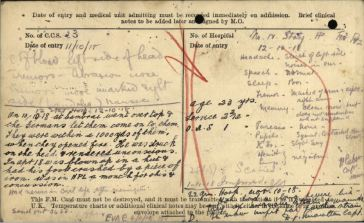 Field Medical Card Jone, Frederick Thomas Page 2 and 3