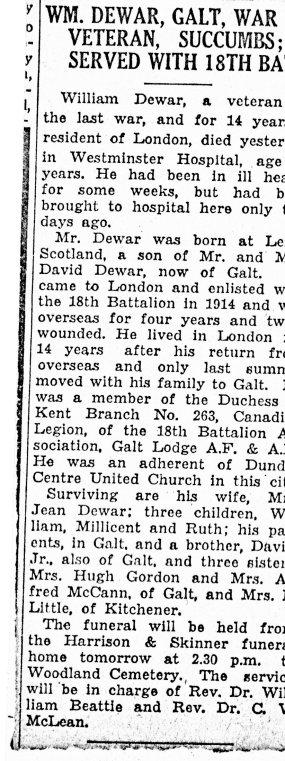 William Robb Dewar Obituary Long