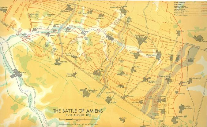 The Battle of Amiens 8 to 18 August 1918